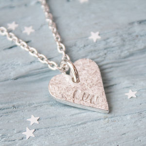 Run Silver Heart Necklace