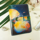 Tropical Fish Leather Passport Case