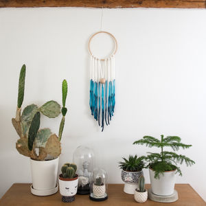 Contemporary Dream Catcher Dip Dyed Wall Hanging