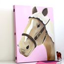Personalised Pony Tan Canvas, Hand Painted