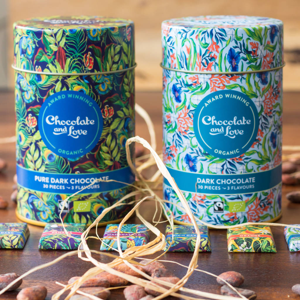 Fairtrade Organic Chocolate Tin Duo