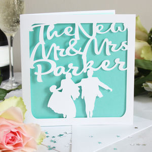 'The New Mr And Mrs' Personalised Card - wedding cards