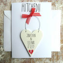 Personalised Hitched Wedding Day Card
