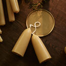 British Beeswax Candle, Short, Set Of Two