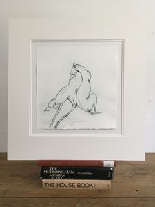 'Two Dogs' Drypoint Edition Print One/12