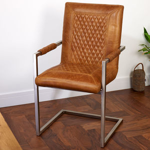 Vintage Leather Or Harris Tweed Dining Office Chair - furniture