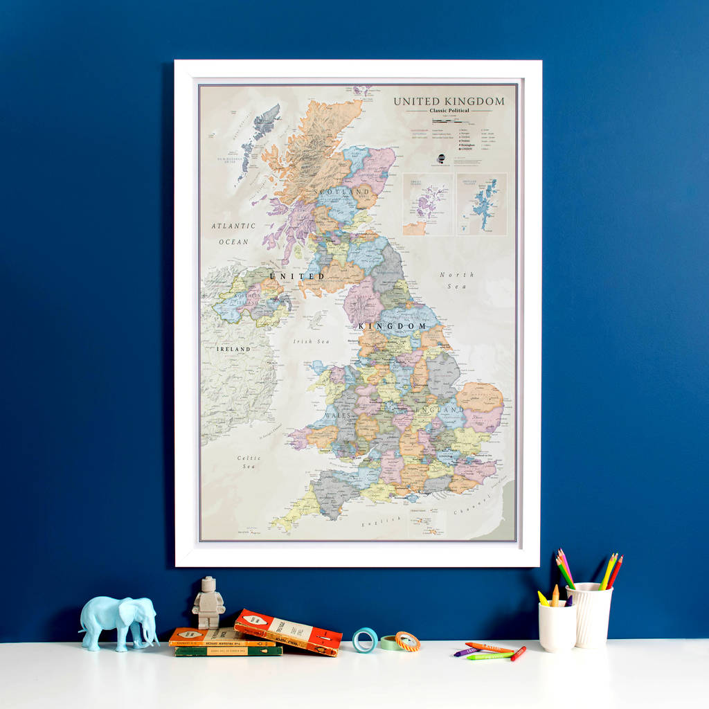 Netherland Antilles Map%0A UK Classic Map Print