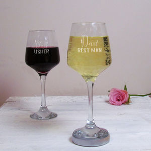 Best Man Personalised Wine Glass