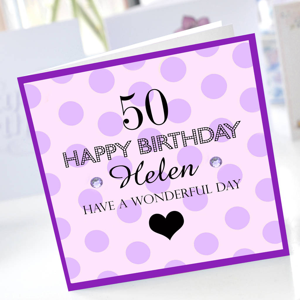 50th Birthday Card By Amanda Hancocks