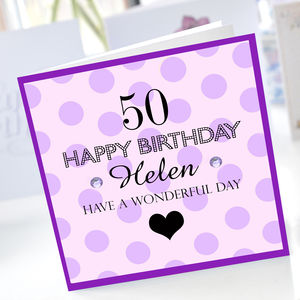 50th Birthday Card - 50th birthday cards