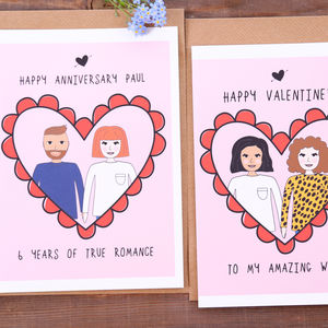 Personalised Anniversary Portrait Card