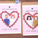 Personalised Anniversary Wedding Couple Portrait Card