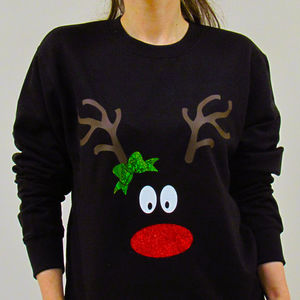 Christmas Reindeer Sweatshirt - christmas jumpers