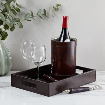 Leather Drinks Connoisseur Gift Set