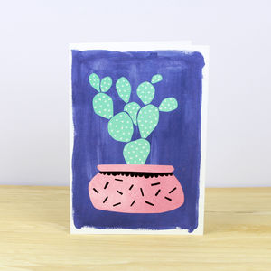 Cactus Pot Plant No.Two Greetings Card