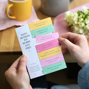 Mum And Me Activity Ideas Mother's Day Coupon Card