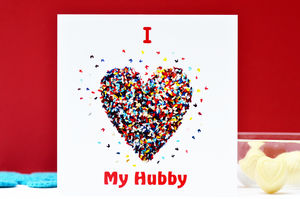 I Love My Hubby Butterfly Heart Card - anniversary cards