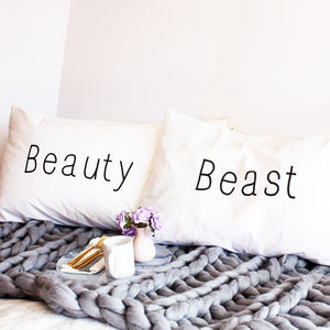 Beauty And Beast Pillow Cases - last-minute gifts