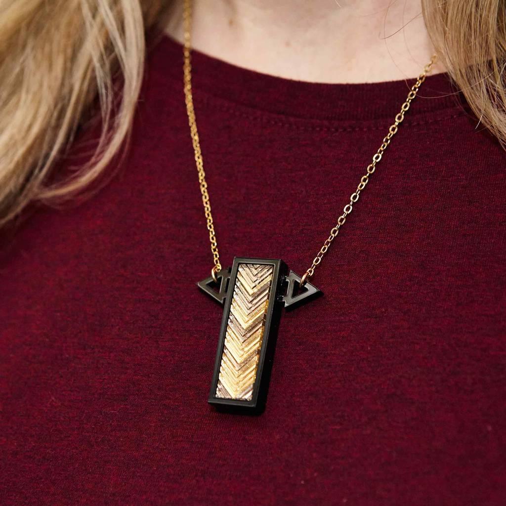 Small cross bar acrylic pendant necklace by cobalt hill small cross bar acrylic pendant necklace aloadofball Gallery