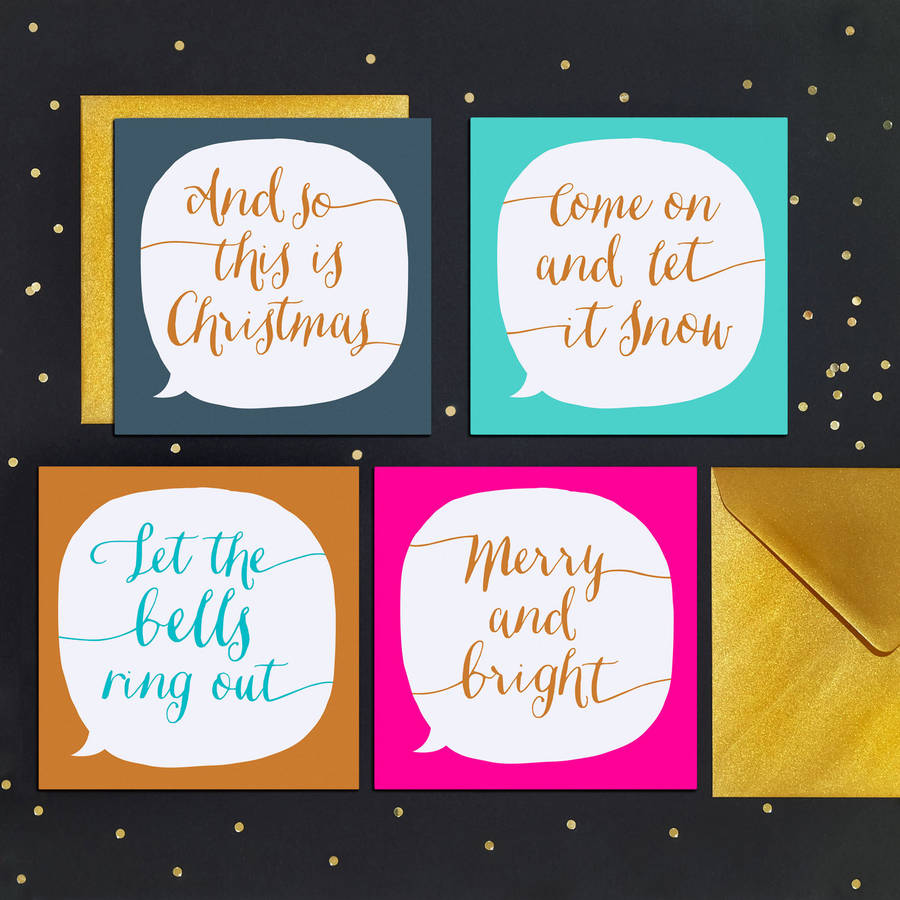 Luxury calligraphy christmas cards by paper plane calligraphy christmas cards m4hsunfo