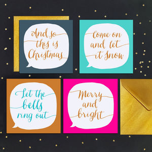 Luxury Calligraphy Christmas Cards - cards & wrap
