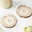 Personalised Wooden Wedding Coaster
