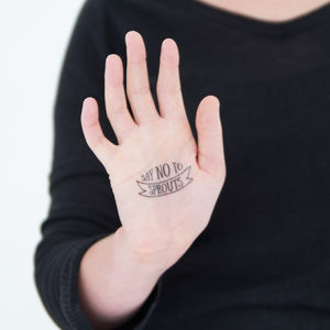 Anti Christmas Temporary Tattoos