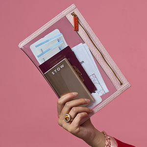 Personalised Clear Travel Wallet And Power Bank For Her - travel wallets