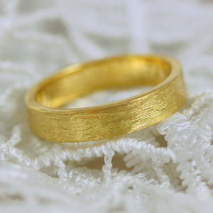 Scottish And Recycled Gold Etched Flat Profile 5mm Ring - new in wedding styling