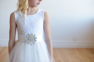 Ivory Or White Lace Flower Girl Dress