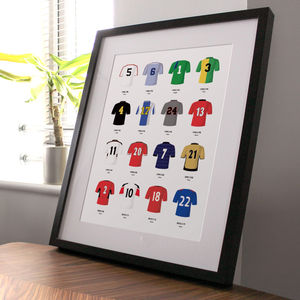 Classic Kits Football Team Print - posters & prints for children