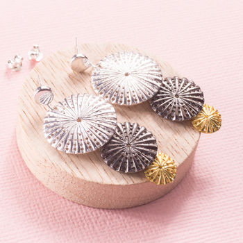 Silver Parasol Earrings