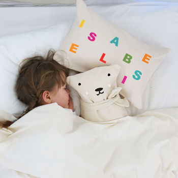 Personalised Letter Cushion For Kids