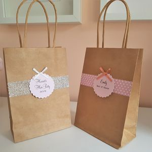 Personalised Kraft Hen Party Gift Bag