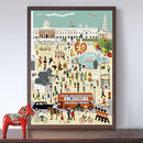 Out And About In London Trafalgar Square Art Print