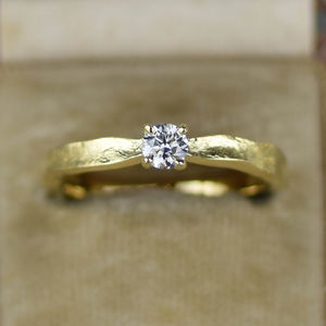 Tinkerbell 18ct Gold Diamond Engagement Ring - engagement rings