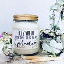 Godmother Thankyou And Proposal Candle