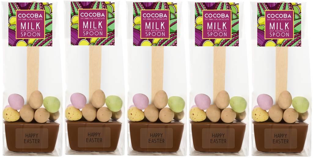 Five Easter Mini Egg Hot Chocolate Spoons