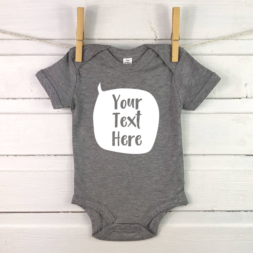 Personalised babygrows and baby clothes notonthehighstreet personalised speech bubble babygrow new baby gift babygrows negle Images