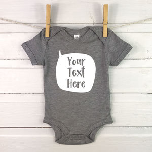 Personalised Speech Bubble Babygrow New Baby Gift - clothing