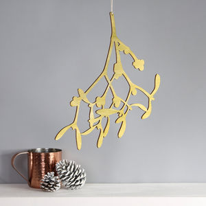 Hand Painted Hanging Alternative Mistletoe Decoration - home accessories