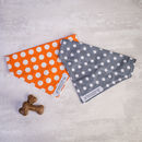 Dog Bandana For Boy Or Girl Dogs In Grey And Orange