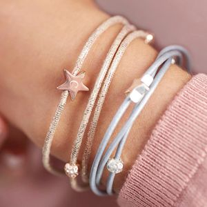 Arlena Multi Wrap Leather Star Bracelet - christmas clothing & accessories