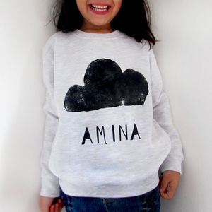 Personalised Cloud Sweatshirt - clothing