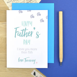 From The Cat Father's Day Card Personalised - what's new
