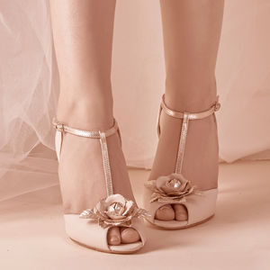 Gabriella Blush Ivory Leather