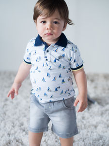 Sail Printed Baby Boy T Shirt - clothing