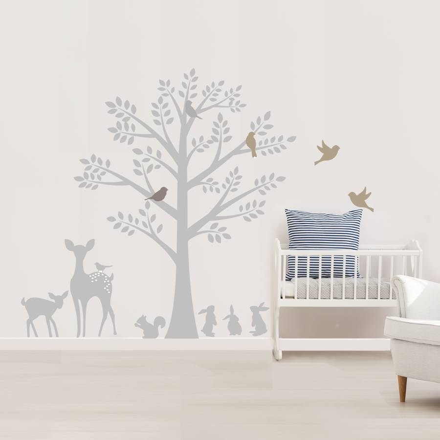 vintage tree wall stickers by littleprints vintage bird vinyl wall stickers contemporary wall