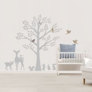 Vintage Tree Wall Stickers Decorative Accessories