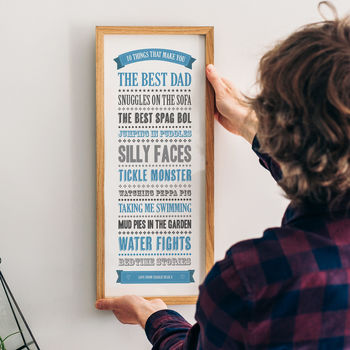 Personalised '10 Things Best Dad' Print